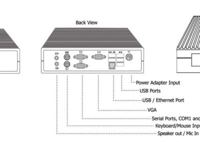 LC8100 kitchen display computer line drawing