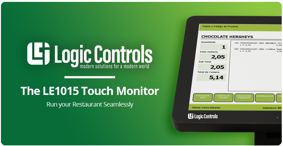 Run your Restaurant Seamlessly with the LE1015 Touch Monitor