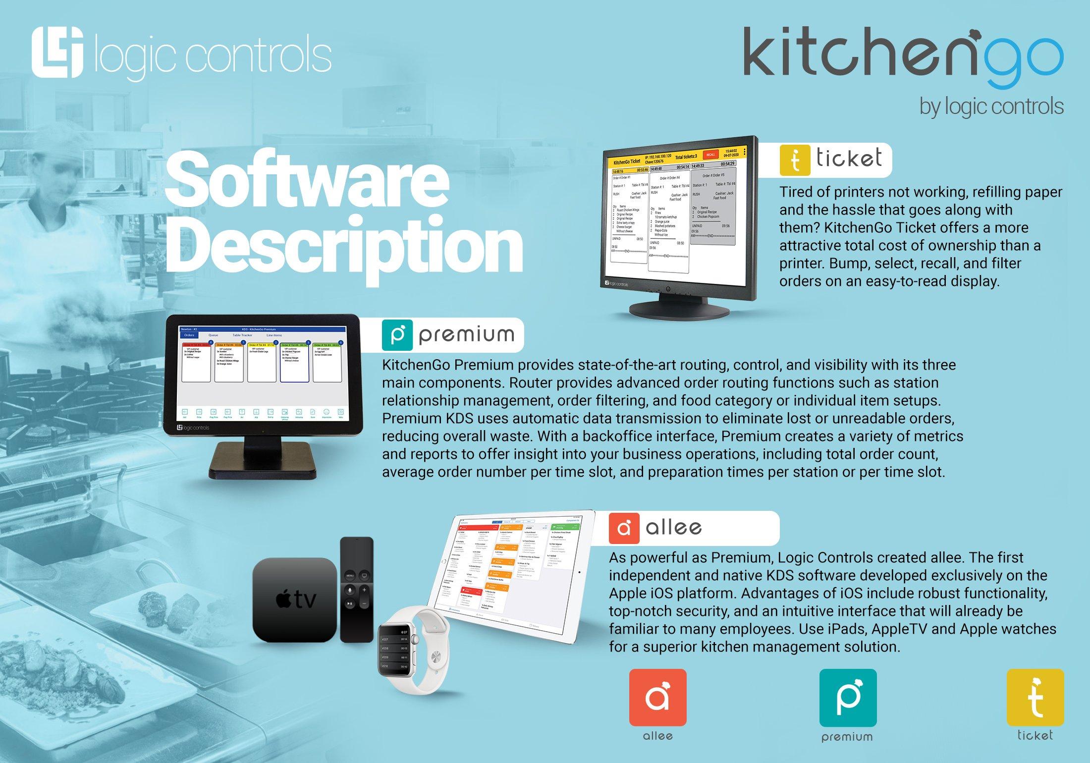 kitchengo KDS kitchen display system software allee premium ticket