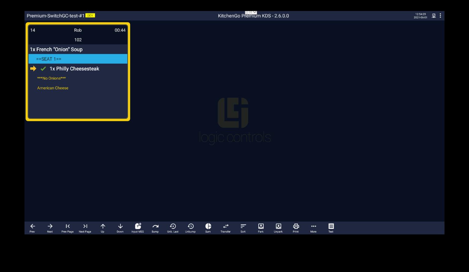 Función de pedido inteligente de KitchenGO KDS Premium